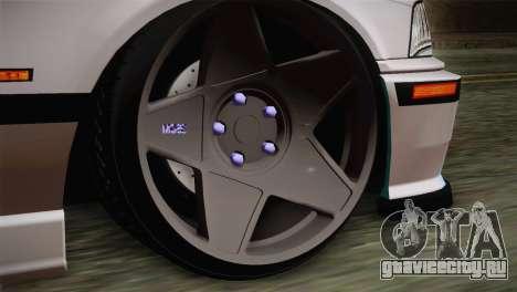 BMW E36 M3 Cabrio для GTA San Andreas вид сзади слева