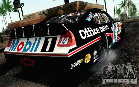NASCAR Chevrolet Impala 2012 Plate Track для GTA San Andreas вид слева