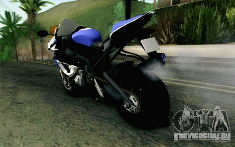 BMW S1000RR HP4 v2 Blue для GTA San Andreas вид слева