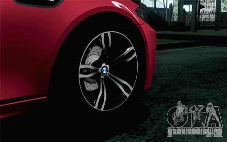 BMW M5 F10 2012 Stock для GTA San Andreas вид сзади слева