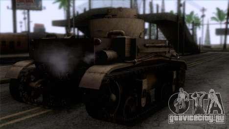 M2 Light Tank для GTA San Andreas вид слева