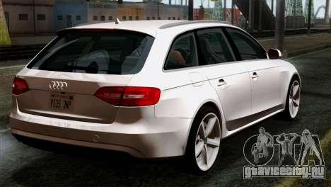 Audi A4 Avant 2013 для GTA San Andreas вид слева