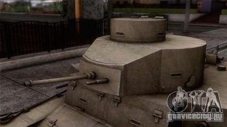 M2 Light Tank для GTA San Andreas вид сзади слева
