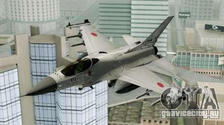 Mitsubishi F-2 Blue JASDF Skin для GTA San Andreas