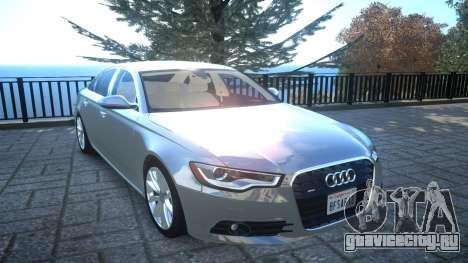 Audi A6 2012 v1.0 для GTA 4 вид изнутри