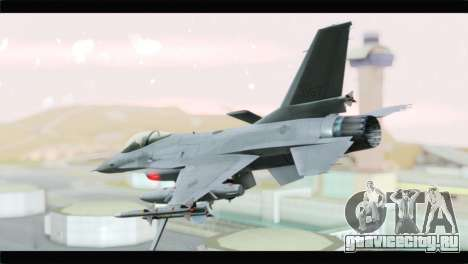 F-16A Republic of Korea Air Force для GTA San Andreas вид слева