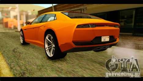 Lamborghini Estoque для GTA San Andreas вид слева
