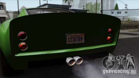 GTA 5 Grotti Stinger GT v2 SA Mobile для GTA San Andreas вид справа