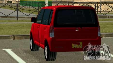 Mitsubishi eK Wagon для GTA San Andreas вид сзади слева