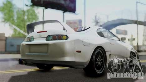 Toyota Supra 1998 FF7 для GTA San Andreas вид слева