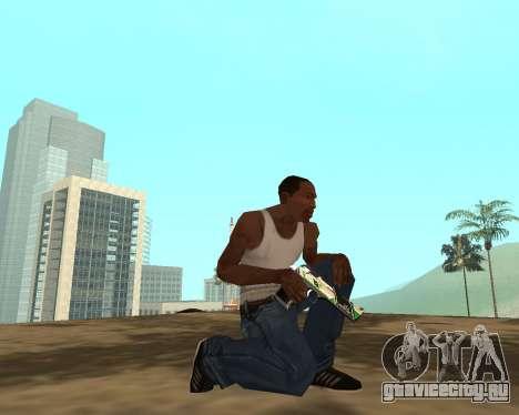 Green Pack Asiimov CS:GO для GTA San Andreas восьмой скриншот