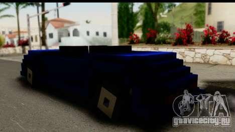 Minecraft Car для GTA San Andreas вид слева
