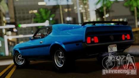 Ford Mustang Mach 1 429 Cobra Jet 1971 IVF АПП для GTA San Andreas вид слева