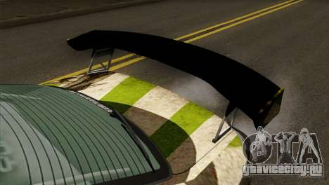 Nissan Silvia S15 Hunter для GTA San Andreas вид сзади