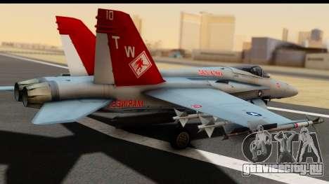 McDonnell Douglas FA-18C Hornet VMFA-232 USMC для GTA San Andreas вид слева