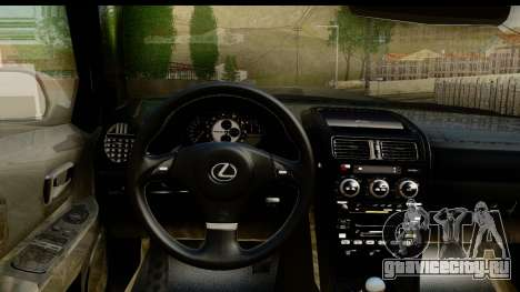 Lexus IS300 Tunable для GTA San Andreas вид изнутри