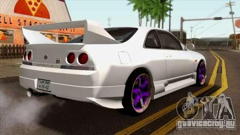 Nissan Skyline R33 Drift JDM для GTA San Andreas вид слева