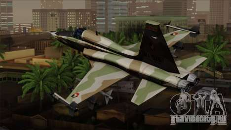 Northrop F-5 Estovakian Air Force для GTA San Andreas вид слева