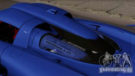 Gemballa Mirage GT v1 Windows Up для GTA San Andreas вид сзади слева