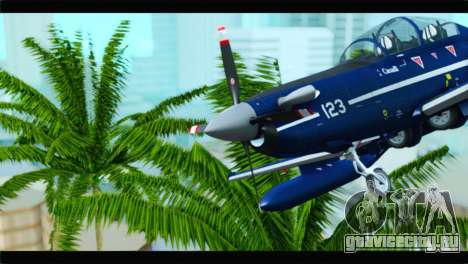 Beechcraft T-6 Texan II Royal Canadian Air Force для GTA San Andreas вид сзади