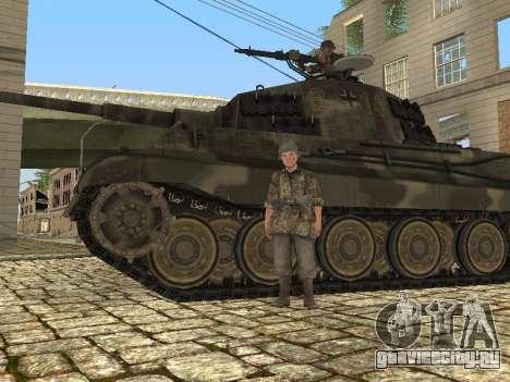 Panzerkampfwagen Tiger II для GTA San Andreas вид изнутри