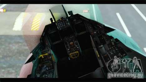 F-16A Republic of Korea Air Force для GTA San Andreas вид сзади