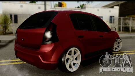 Dacia Sandero Low Tuning для GTA San Andreas вид слева