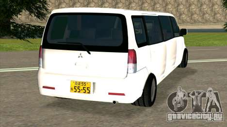 Mitsubishi EK Wagon Limo для GTA San Andreas вид сзади слева