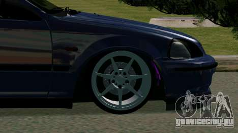 Honda Civic EK9 для GTA San Andreas вид сзади