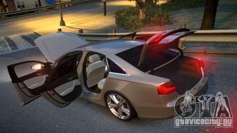 Audi S6 v1.0 2013 для GTA 4 вид изнутри