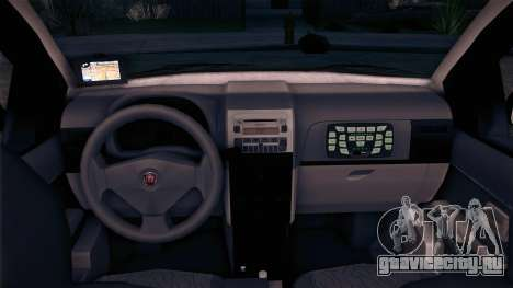 Fiat Siena 2011 для GTA San Andreas вид сзади слева