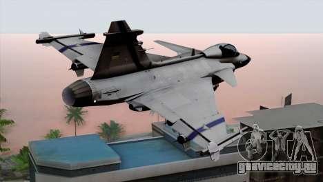 Saab 39 Gripen Custom Indigo Squadron для GTA San Andreas вид слева