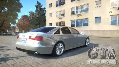 Audi A6 2012 v1.0 для GTA 4 вид сзади