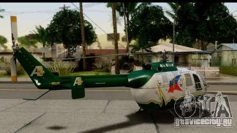 MBB Bo-105 Air Med для GTA San Andreas вид слева