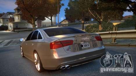 Audi S6 v1.0 2013 для GTA 4 вид сзади слева