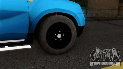 Dacia Duster Van для GTA San Andreas вид сзади слева