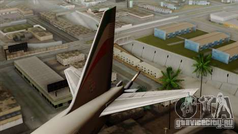 Boeing KC-767 Aeronautica Militare для GTA San Andreas вид сзади слева