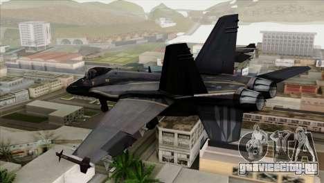 FA-18 HARV для GTA San Andreas вид слева