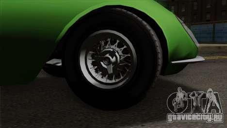 GTA 5 Grotti Stinger GT v2 для GTA San Andreas вид сзади слева