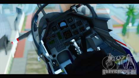 Beechcraft T-6 Texan II US Air Force 2 для GTA San Andreas вид сзади