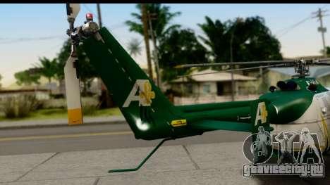 MBB Bo-105 Air Med для GTA San Andreas вид сзади слева