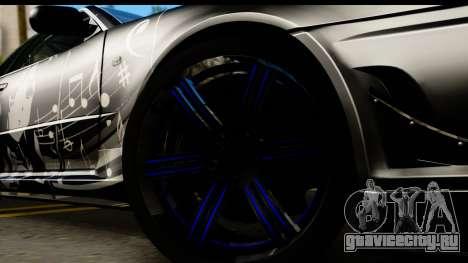 Nissan Skyline GT-R BNR34 Mio Akiyama Itasha для GTA San Andreas вид сзади