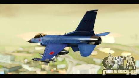 Mitsubishi F-2A JASDF Blue v2.0 для GTA San Andreas вид слева