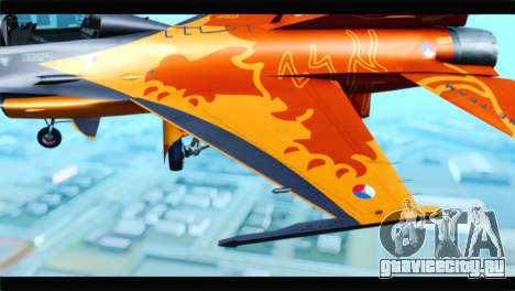 F-16D Fighting Falcon Dutch Demo Team J-015 для GTA San Andreas вид сзади