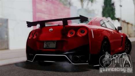 Nissan GTR Nismo 2015 для GTA San Andreas вид слева