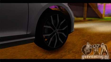 Volkswagen Golf 7 для GTA San Andreas вид сзади слева