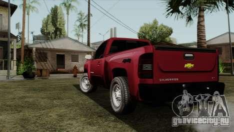 Chevrolet Silverado Cabina Sencilla для GTA San Andreas вид слева