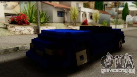 Minecraft Car для GTA San Andreas