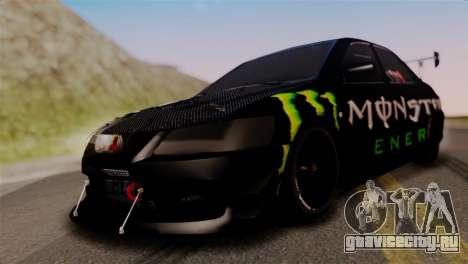 Mitsubishi Lancer Evo IX Monster Energy для GTA San Andreas