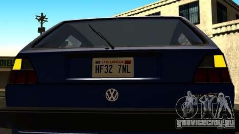 Volkswagen Golf Mk2 для GTA San Andreas вид сбоку